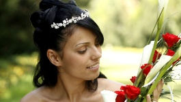 Try making use of half up half down wedding hairstyles for your wedding day.